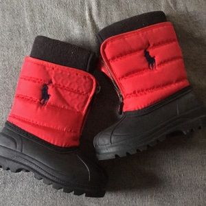 Baby polo snow boots